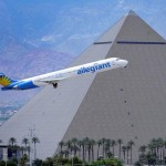allegiant air with pyramid