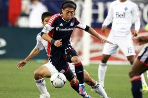 Lee Nguyen in action vs Vancouver, teams current leading scorer