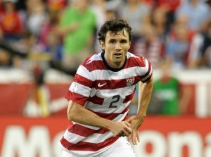 Michael Parkhurst in action for the USA national team