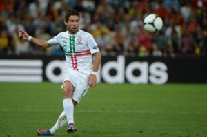 not always in the spot light Joao Moutinho is Portugal's spark plug in the center of the field