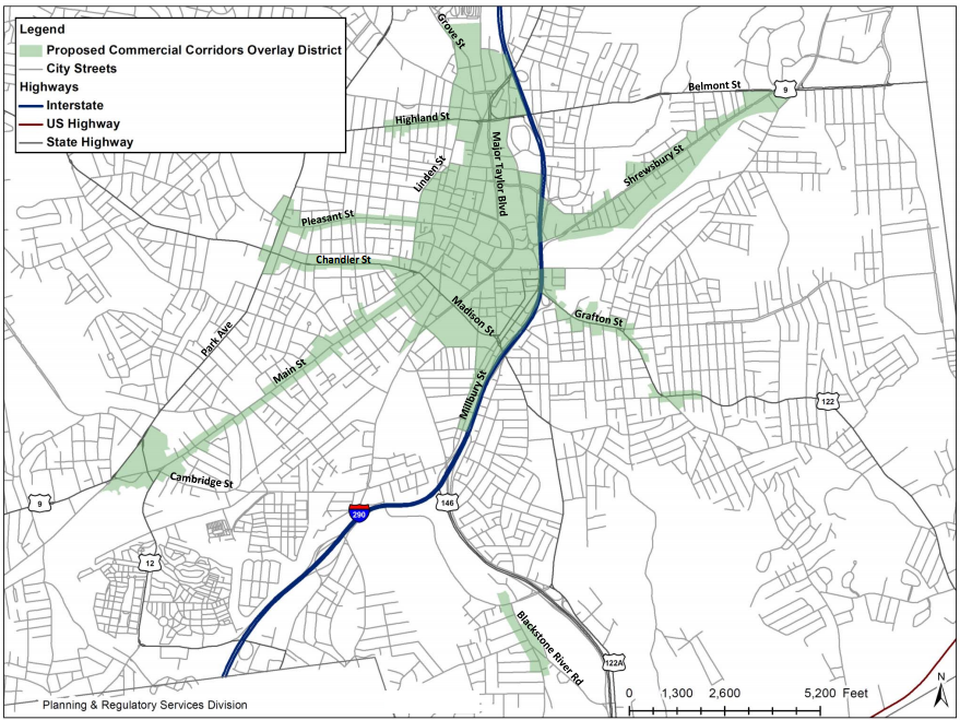 worcester zoning map
