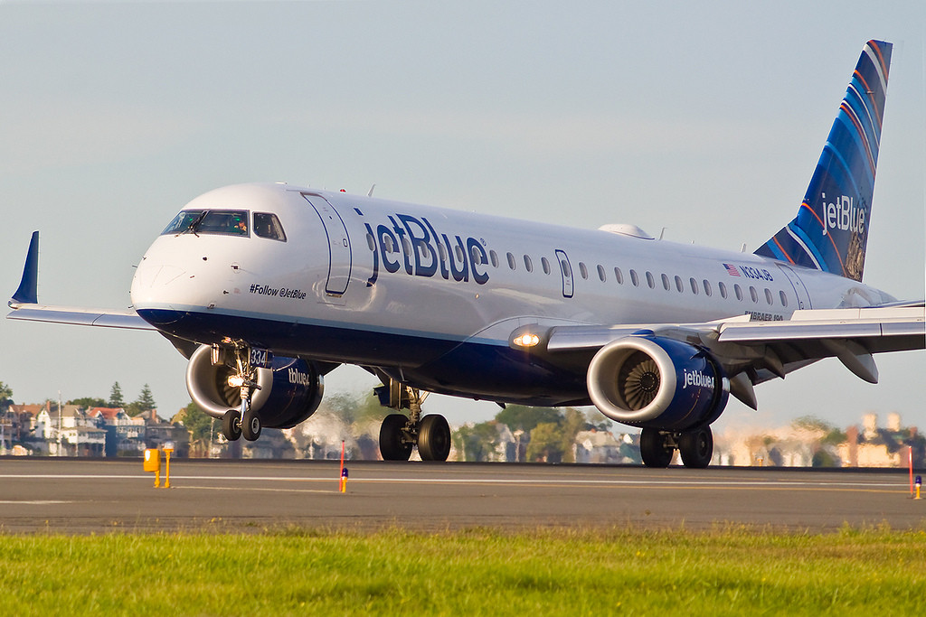 JetBlue's #Follow@JetBlue touches down a Logan. (Photo by John Marotta)