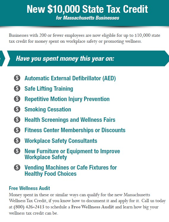 Mass wellness tax credit